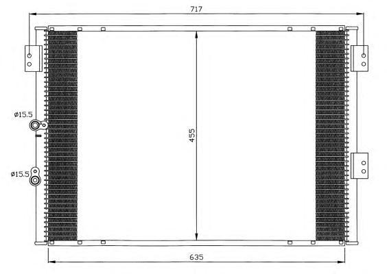 Конденсатор, кондиционер NRF 35461