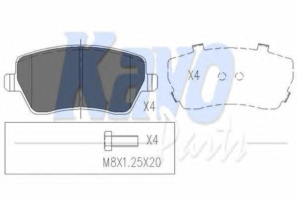 KBP6559 KAVO PARTS Комплект тормозных колодок, дисковый тормоз