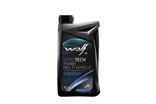 8303609 WOLF Трансмиссионное масло минеральное WOLF 75W80, 1л