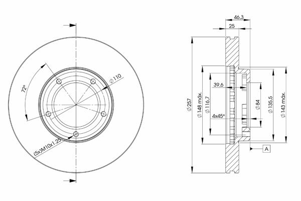 78BD5180 ICER Тормозной диск