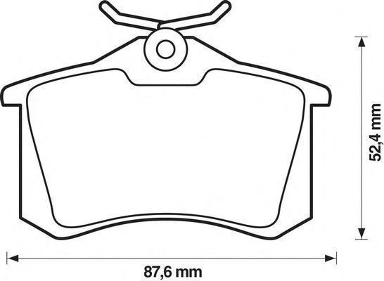 Комплект тормозных колодок, дисковый тормоз BENDIX 571906B