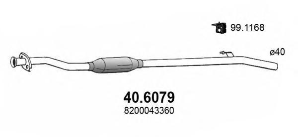Средний глушитель выхлопных газов ASSO 406079