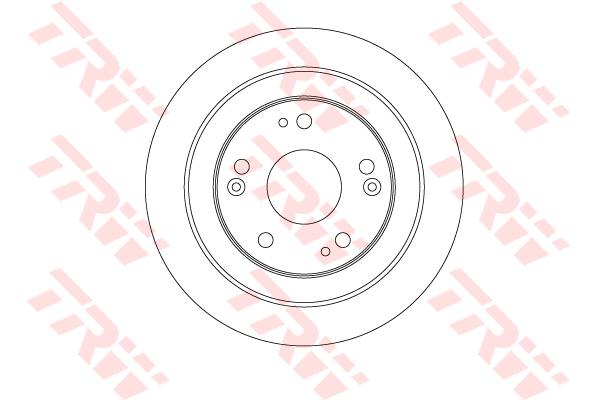 DF6526 TRW/LUCAS Тормозной диск