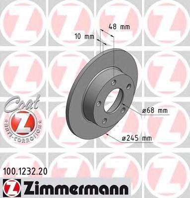 100123220 ZIMMERMANN Тормозной диск