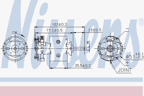 Вентилятор салона NISSENS 87097