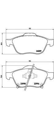 P83043 BREMBO Комплект тормозных колодок, дисковый тормоз