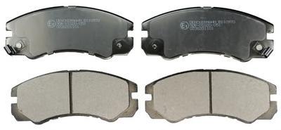 Комплект тормозных колодок, дисковый тормоз DENCKERMANN B110970
