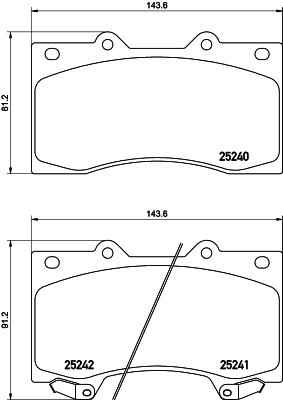 8DB355019531 HELLA Комплект тормозных колодок, дисковый тормоз