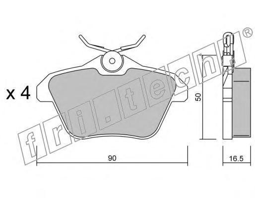 Комплект тормозных колодок, дисковый тормоз FRI.TECH. 1150
