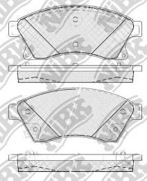 Комплект тормозных колодок NIBK PN0391
