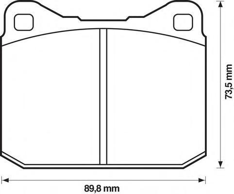 571255D JURID Комплект тормозных колодок, дисковый тормоз