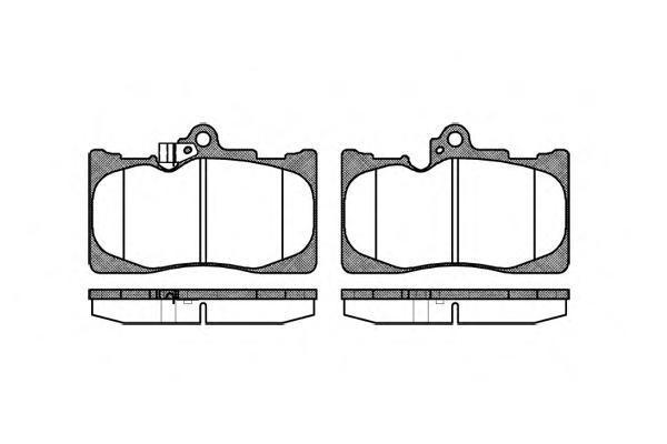 Комплект тормозных колодок, дисковый тормоз ROAD HOUSE 2118002