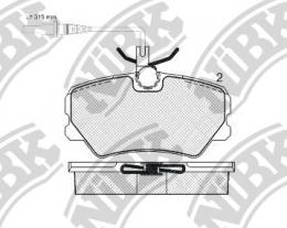 PN0297W NIBK Колодки тормозные дисковые с датчиком износа