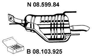 Глушитель выхлопных газов конечный EBERSPACHER 0859984