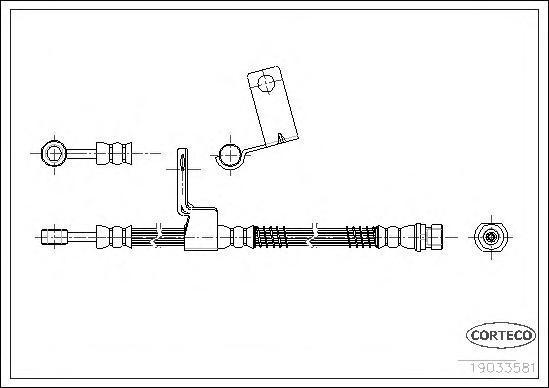 19033581 CORTECO Тормозной шланг