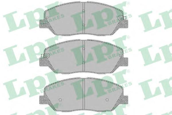 Комплект тормозных колодок, дисковый тормоз LPR/AP 05P1382