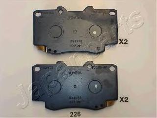 Комплект тормозных колодок, дисковый тормоз JAPANPARTS PA226AF