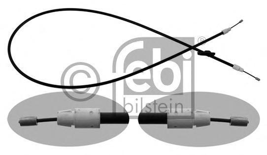 34906 FEBI Тросик тормозной (левое рулевое управление)