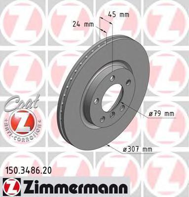 150348620 ZIMMERMANN Тормозной диск