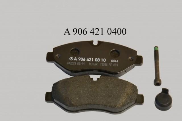 A9064210400 MERCEDES-BENZ Колодки тормозные Fr Sprinter (без пружин и датчиков износа)