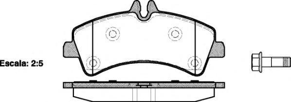 Комплект тормозных колодок, дисковый тормоз ROAD HOUSE 2124700