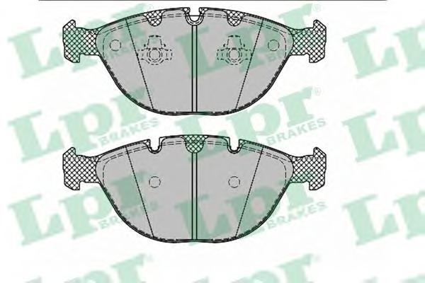 05P1330 LPR Комплект тормозных колодок, дисковый тормоз