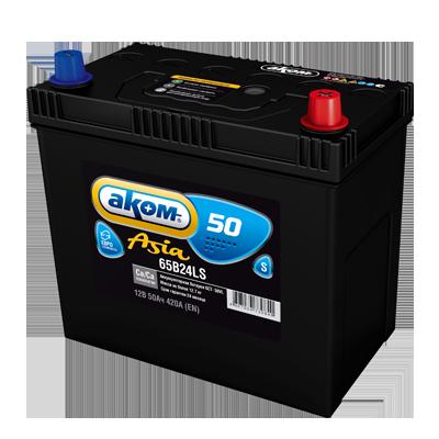 4607034730840 АКОМ Батарея аккумуляторная 50А/ч 420А 12В обратная поляр. стандартные клеммы