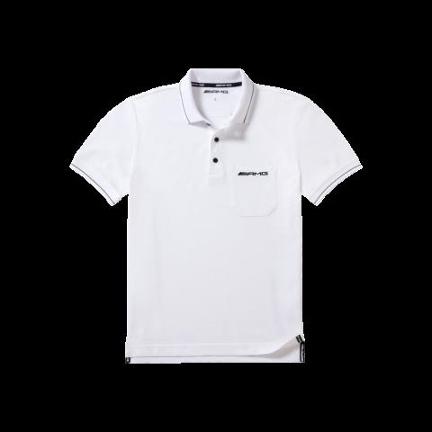 B66953656 MERCEDES-BENZ Мужская рубашка-поло Mercedes Men's Poloshirt AMG White размер: M