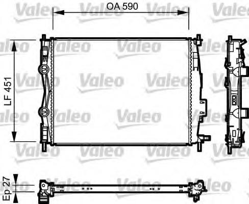 735116 VALEO Радиатор, охлаждение двигателя