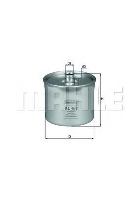 KL468 MAHLE Топливный фильтр