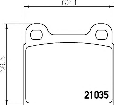 2103501 TEXTAR --Колодки тормозные дисковые TEXTAR