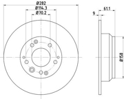 ND8001K NISSHINBO Диск тормозной