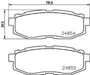 NP7013 NISSHINBO комплект колодок для дисковых тормозов