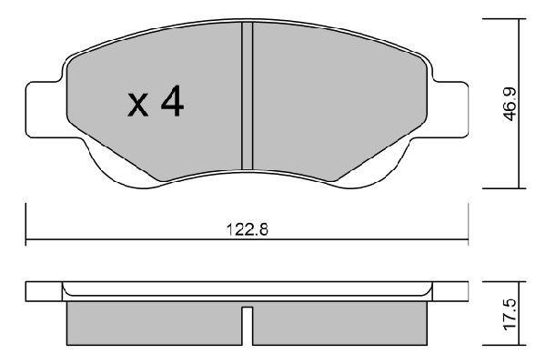 BPTO1008 AISIN Колодки тормозные дисковые