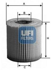 2516400 UFI Масляный фильтр
