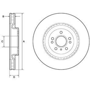 BG9175C DELPHI Тормозной диск