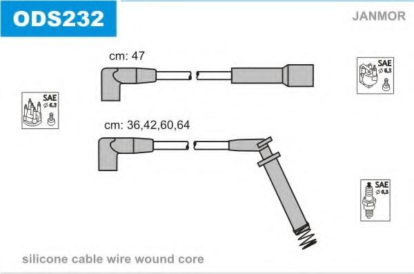 ODS232 JANMOR Комплект проводов зажигания