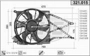 321015 AHE Вентилятор, охлаждение двигателя