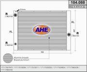 104088 AHE Радиатор, охлаждение двигателя