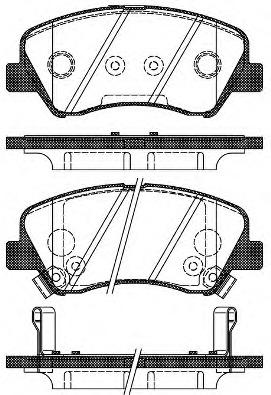 Комплект тормозных колодок, дисковый тормоз ROAD HOUSE 2148802