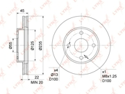 BN1067 LYNX Диск тормозной передний (235x22)