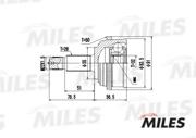 GA20141 MILES Шарнирный комплект, приводной вал