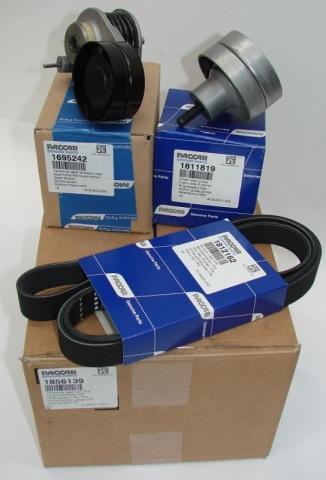 Комплект: натяжитель + ролик + ремень ДВС MX (1695242 + 1811819 + 1812162) DAF 1856139