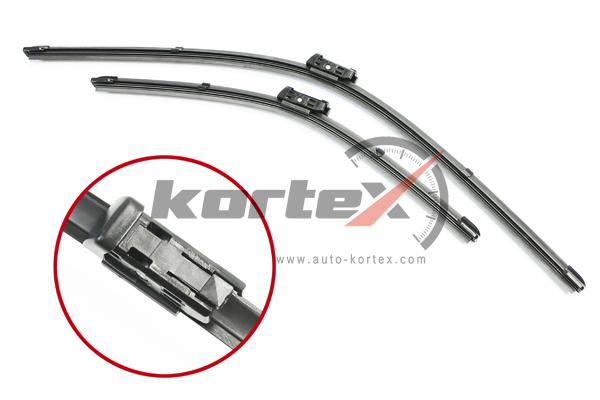 KP130 KORTEX Щетка стеклоочистителя AUDI A1VW POLO 09- (600400) к-т., KORTEX, KP130