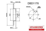 DBD1178 DYNAMATRIX-KOREA диск тормозной