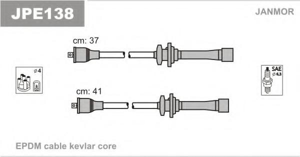 JPE138 JANMOR Комплект проводов зажигания