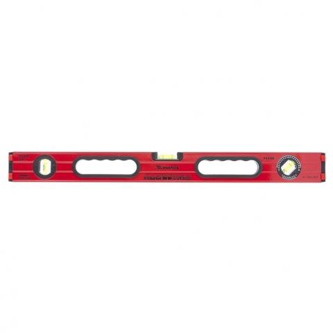 34506 MATRIX Уровень алюминиевый, 600 мм, фрезерованный, 3 глазка (1 поворотный), две ручки, усиленный MATRIX