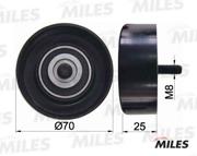 AG03080 MILES Ролик ремня приводного (с крепежным болтом) FORD FOCUS/ESCORT 1.3-1.6 -04