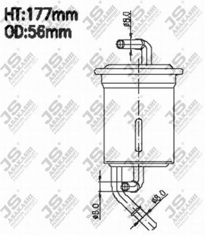 FS9114 JS ASAKASHI Фильтр топливный
