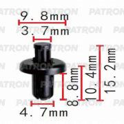 P370544 PATRON Клипса пластмассовая Subaru, применяемость защита (различная), уплотнители, фиксаторы, шумоизоляция.